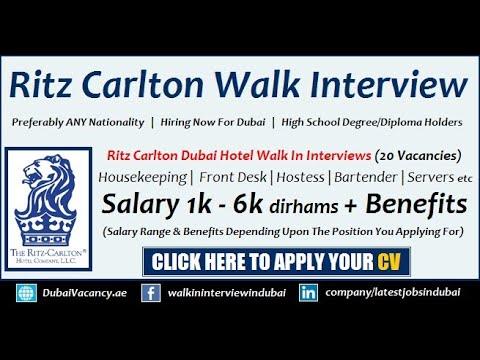 Ritz Carlton Careers Open Day Walk in Interview (20 Vacancies)