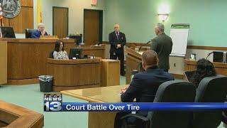 Judge allows prosecutors to examine flat tire in case against Silver City DA