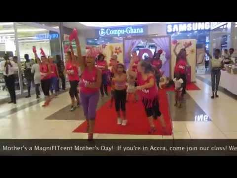 Zumba with Quiana. Mother's Day. We Are One (Accra, Ghana). Marina Mall