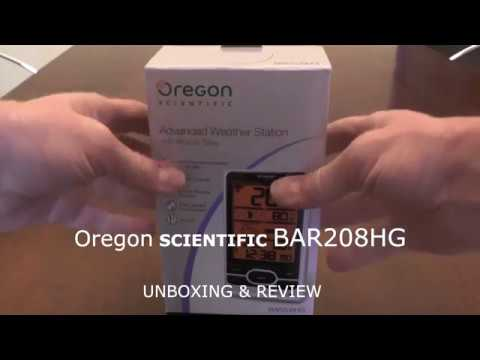 Oregon scientific BAR208HG unboxing review stazione meteo weather station