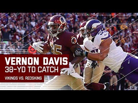 Kirk Cousins & Vernon Davis Connect for a 38-Yard TD! | Vikings vs. Redksins | NFL