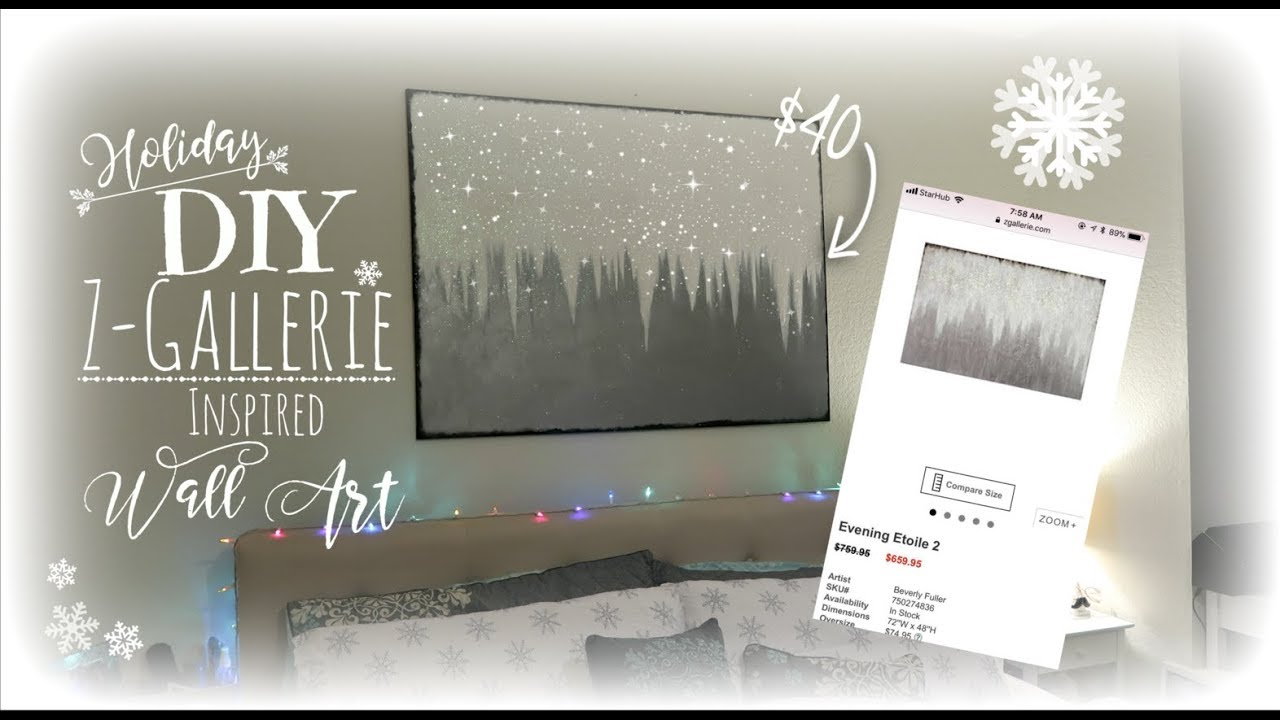 Affordable Diy Z Gallerie Inspired Wall Art Youtube