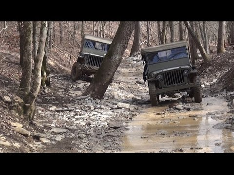 1946 willys jeep vs john deere gator dirt every day for Dirty foot mud ranch