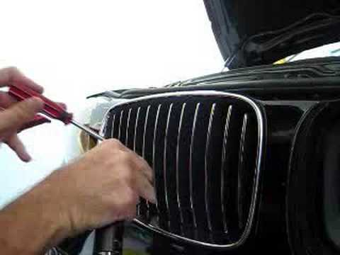 bmw 135i front grill replacement youtube. Black Bedroom Furniture Sets. Home Design Ideas