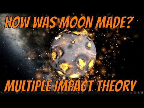 Was Moon Created From Many Collisions? Multiple Impact Hypothesis