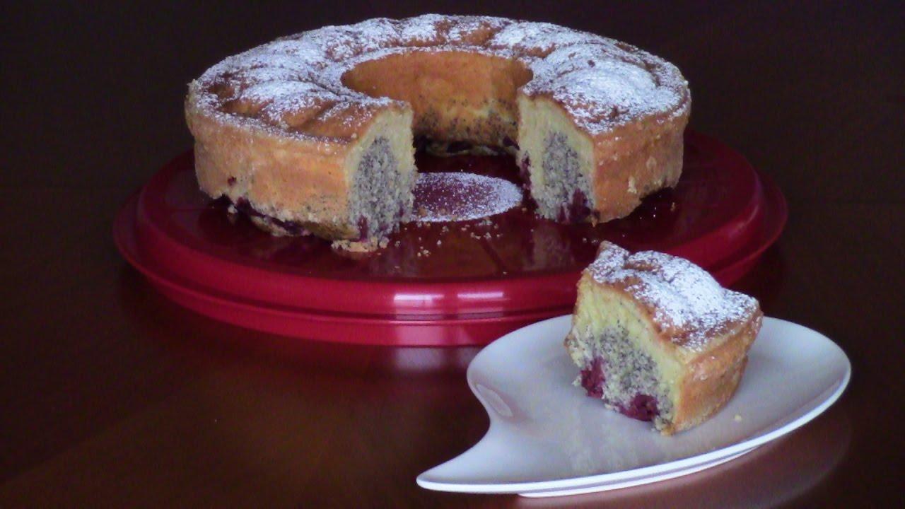 Apfel Mohn Kirsch Kuchen Youtube