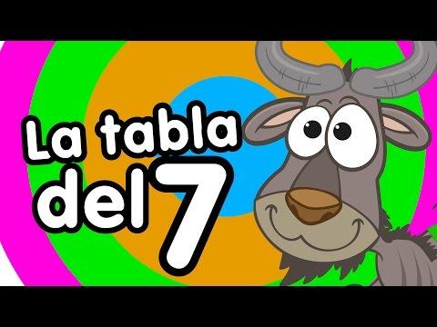 Tabla del 7 cantada - Canciones Infantiles - Canciones para niños -Doremila
