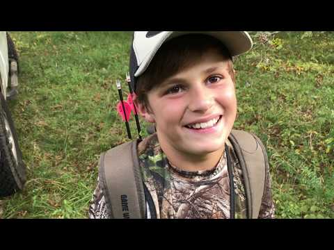 Youth Deer Archery Hunt - Bowhunting Whitetail Deer