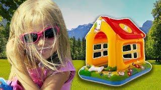 Алина и новый Домик для детей / Alina pretend play with Playhouse for kids