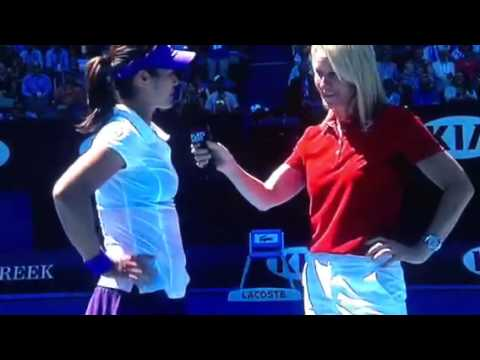 Li Na Interview After Winning Semi Final At 2013 Australian Open