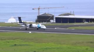 I like crosswind, Ponte Delgado, Azores,Dash 8- Bombardier Q 200