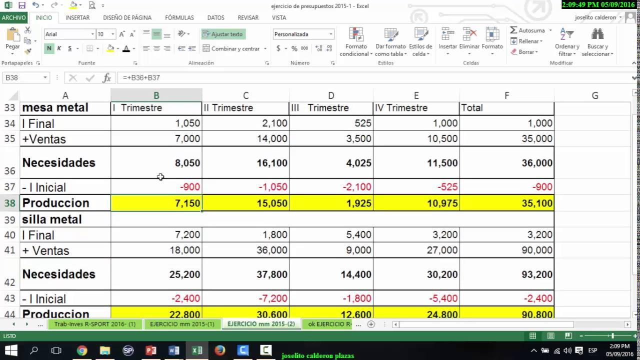 formatos de presupuestos de ventas