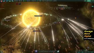 stellaris битва: 1000K флоты (562K435K). Stellaris battle: 1000K fleets. Awakened Empire. AlMoDi