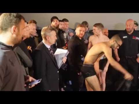 TOM FARRELL v FARED HAKIMI - OFFICIAL WEIGH IN & HEAD TO HEAD / BELLEW v FLORES