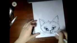 Как рисовать кошку)(В этом видео я рисую кошку) ---------------------------------------------------------- Спасибо за просмотр! Подписывайтесь), 2014-05-30T09:44:32.000Z)