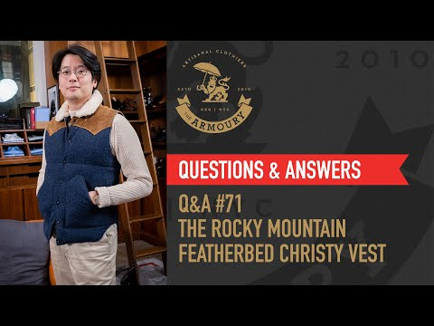 Q&A #71 Introducing the Rocky Mountain Featherbed Christy Vest