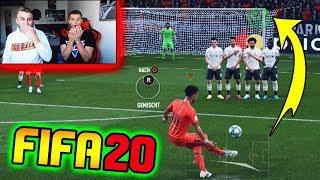 FIFA 20: DEMO Gameplay! Extrem geile neue FREISTOSS Challenge vs. kleinen BRUDER! - Ultimate Team