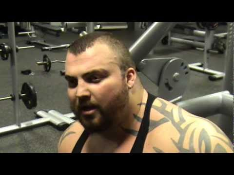 Eddie Hall, UK's Strongest Man telling boost oxygen how he gets through the wall