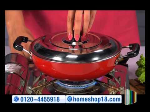 fd0c7b200d1 HomeShop18.com - Pressure Cooker   Nonstick Cookware Combo by PNB   Crystal