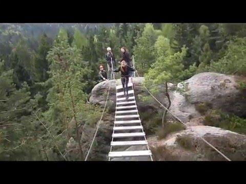 Klettersteig Jonsdorf : Der nonnensteig ein klettersteig im zittauer gebirge youtube
