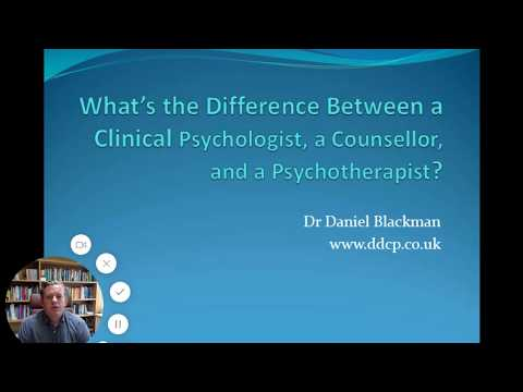 "the differences between counselling and psychotherapy One thought on ""what's the difference between the clinical interview and full-on counseling or psychotherapy""."