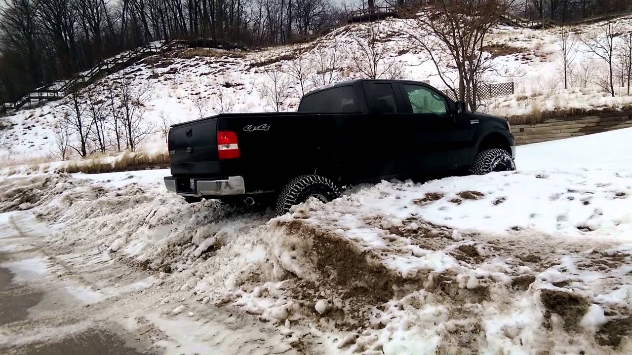 Jp Getting His Lifted F150 Stuck In Snow Youtube