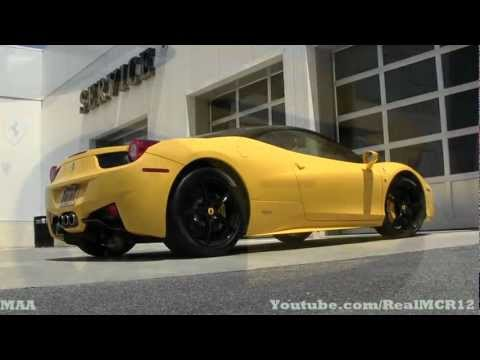 Ferrari 458 Italia Black and Yellow Color Combo
