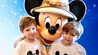 Mickey Mouse Character Meet at Animal Kingdom with Chase and Cole Adventures. Disney World Vlog