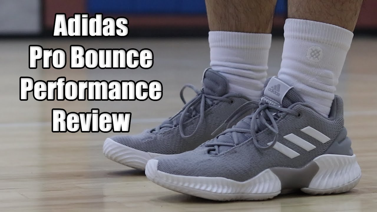 f5a5e814a Adidas Pro Bounce 2018 Low Performance Review! NEW ADIDAS TEAM MODEL ...