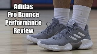 Adidas Pro Bounce 2018 Low Performance Review! NEW ADIDAS TEAM MODEL