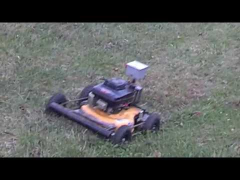Test run of a homemade 4WD remote control mower(自作4WDラジコン ...