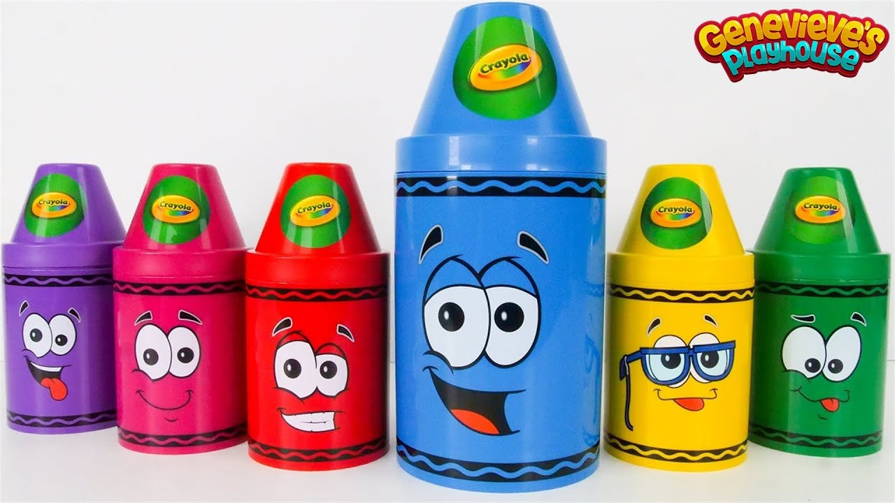 Best Toy Learning Video for Toddlers and Kids Learn Colors with Surprise Crayons!