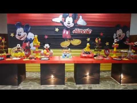 Decoraci n infantil mickey mouse magicland youtube for Fiestas elegantes decoracion