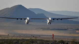Stratolaunch, the world's largest plane takes off for the first time