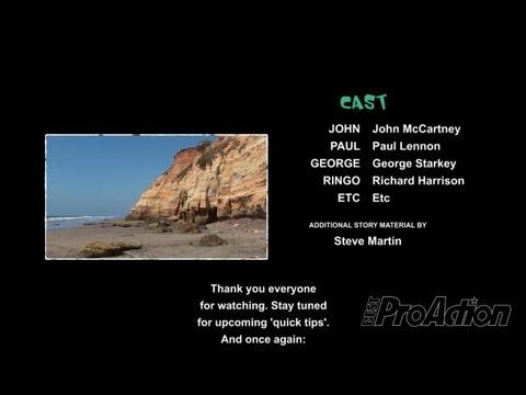 Monsters, Inc. Look-Alike Closing Credits in Adobe Premiere Pro.