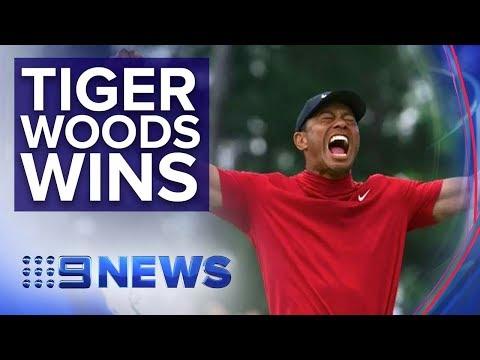 Tiger Woods wins U.S. Masters | Nine News Australia