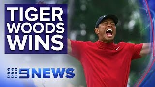 Tiger Woods wins U.S. Masters | Nine News Australia