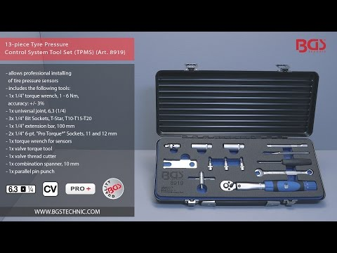 13-piece Tyre Pressure Control System Tool Set (TPMS)