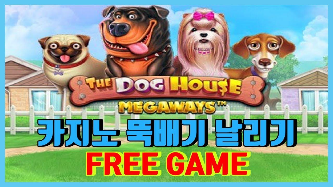 [슬롯머신] 도그 하우스 : DOG HOUSE – 카지노를 털어라 (역시 개가 줄땐 크게주네)