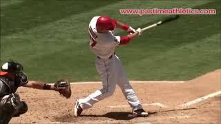 Mike Trout Hitting Mechanics Slow Motion Baseball Swing   10000fps LA Angels MLB home run