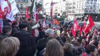 Brussels Protest supporting Greece against austerity