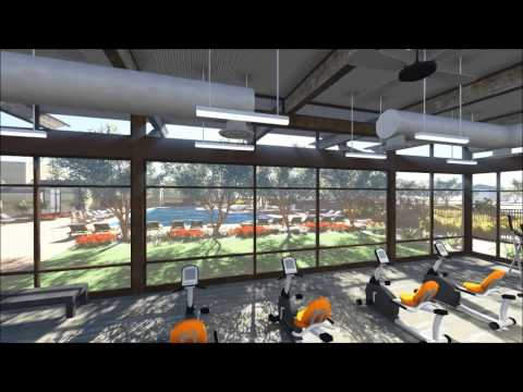 Architecture Animation- Fitness Center and Pool at Redhawk