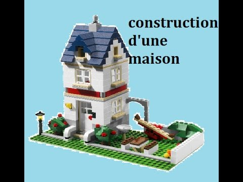construction 1 construction d 39 une maison en lego rapide youtube. Black Bedroom Furniture Sets. Home Design Ideas