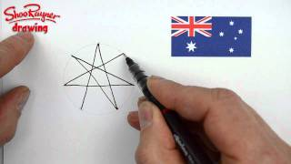 How to draw a seven-sided star for Australia Day