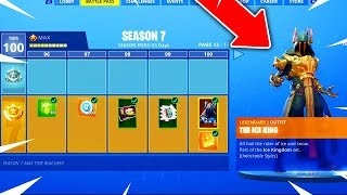 *NEW* FORTNITE SEASON 7 TIER 100 MAX BATTLE PASS SHOWCASE! (Fortnite: Battle Royale)