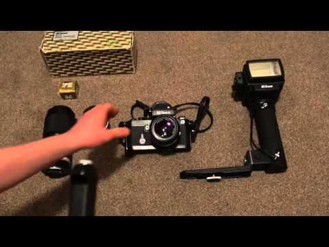 Nikon F2S Walkthrough (MD-2 Motordrive, SB-5 Flash, FB-15 Case).