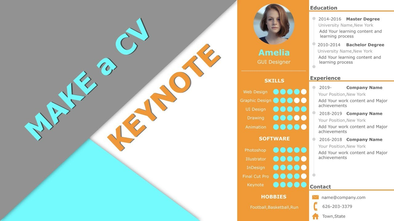 021 How To Make A Cv On Keynote 2019 Same As Powerpoint Youtube