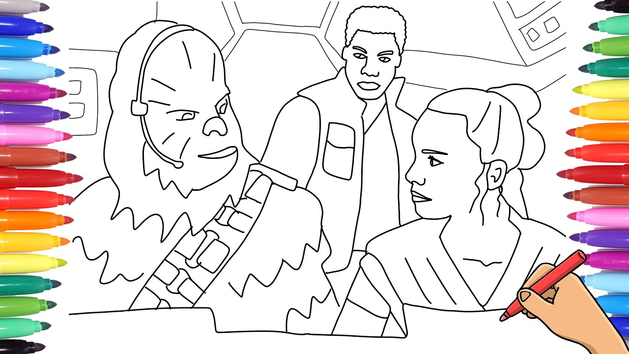 star wars coloring page han and chewie | Star wars coloring sheet ... | 720x1280