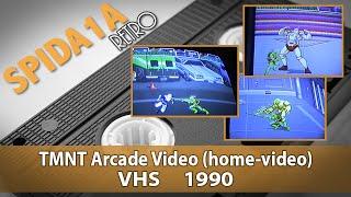 "Spida1a RETRO: ""TMNT Arcade Video"" ('90 handheld home-video footage)"