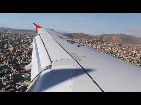 Avianca Aterrizaje -  Lima - Juliaca  2019 Perú